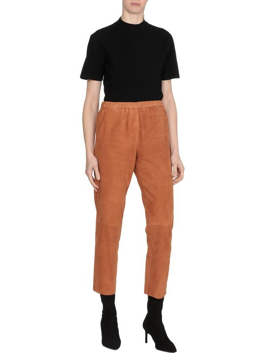 DROMe Suede Leather Trousers