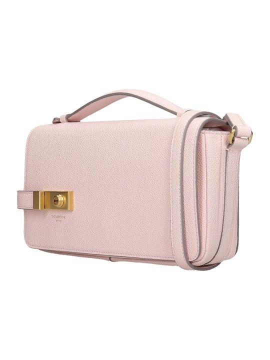 Thom Browne Shoulder Bag In Rose-pink Leather