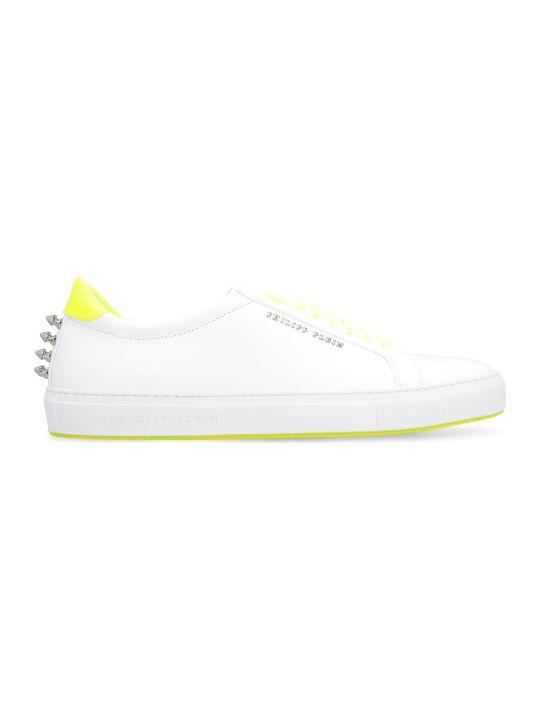 Philipp Plein Leather Low-top Sneakers