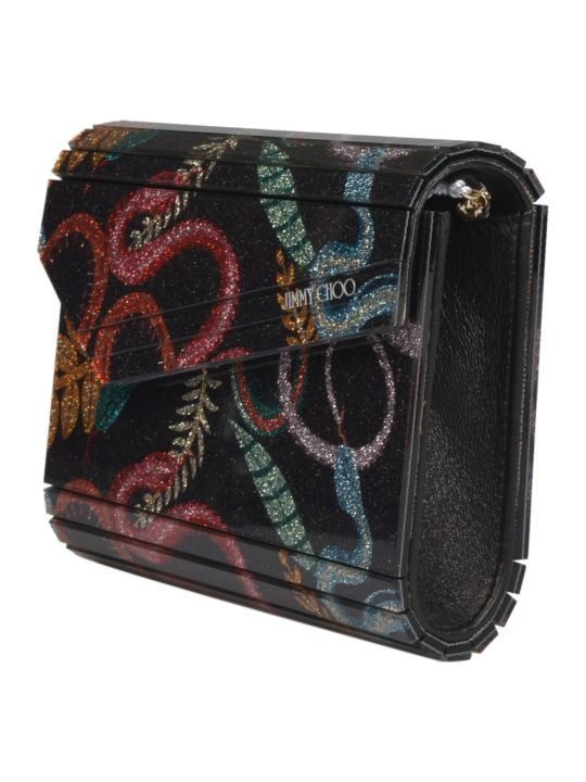 Jimmy Choo Serpent Print Candy Pouchette