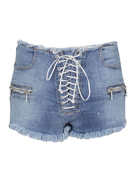 Ben Taverniti Unravel Project Unravel Stonewashed Denim Shorts