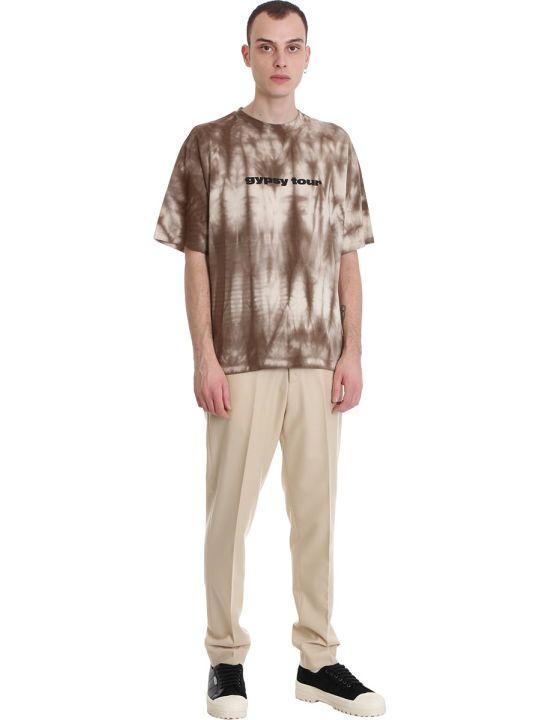 Danilo Paura Fabian T-shirt In Brown Cotton