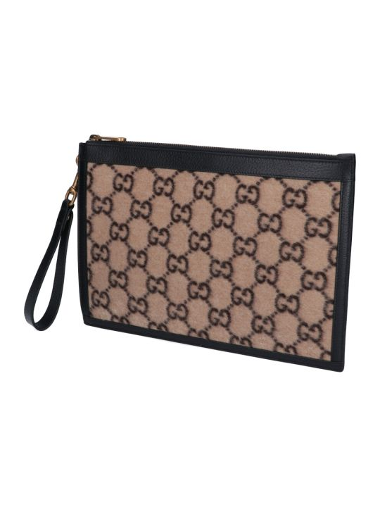 Gucci Gg Wool Pouch