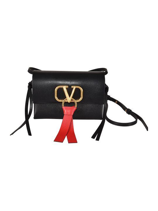 Valentino Small V-ring Shoulder Bag