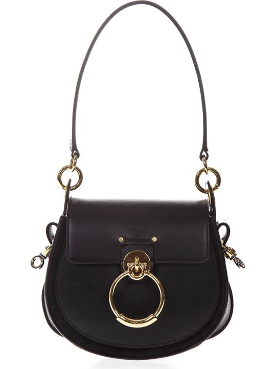 Chloé Black Leather Tess Bag