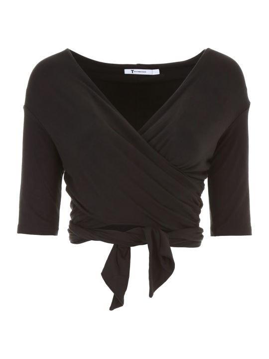 T by Alexander Wang Stretch Jersey Double Layer Top