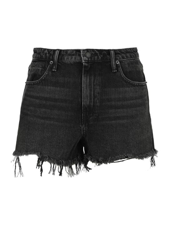 T by Alexander Wang Frayed Denim Shorts