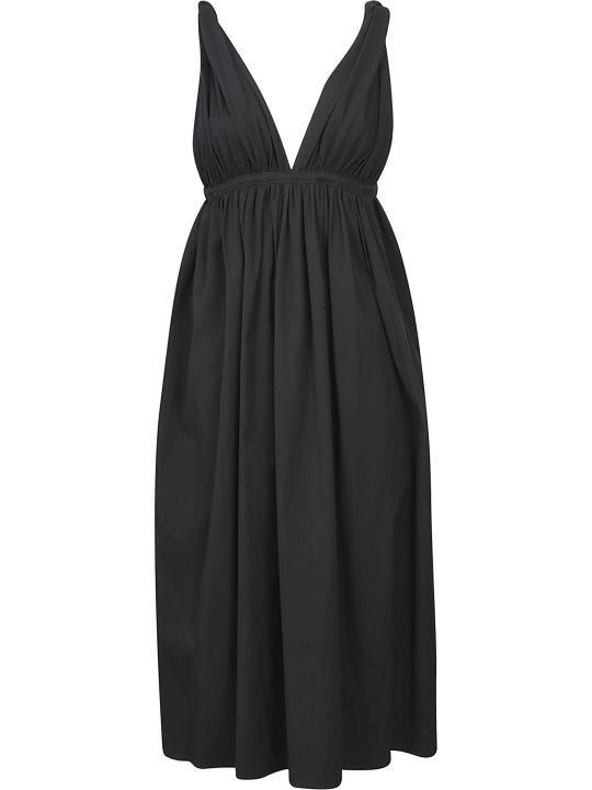 Rochas Flared V-neck Dress