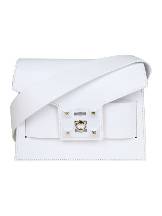 Salar Bag In Mila Shoulder In White Leather