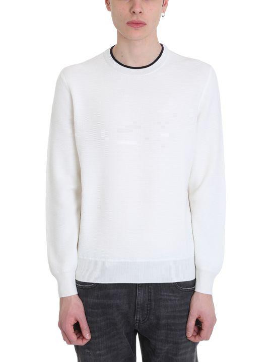 Ermenegildo Zegna White Cotton Sweater