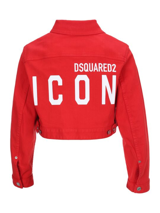 Dsquared2 D Squared Cropped Denim Jacket