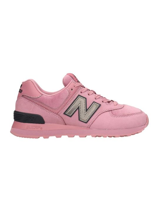 New Balance 574 Sneakers In Rose-pink Nubuck