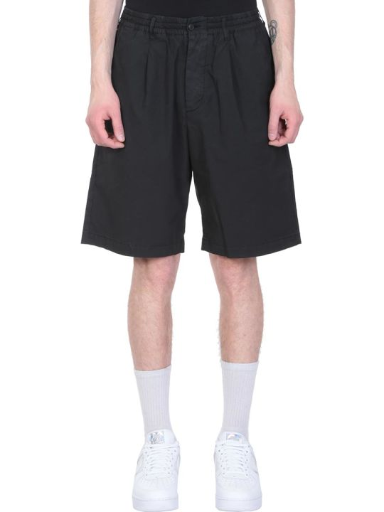 Danilo Paura Black Cotton Shorts