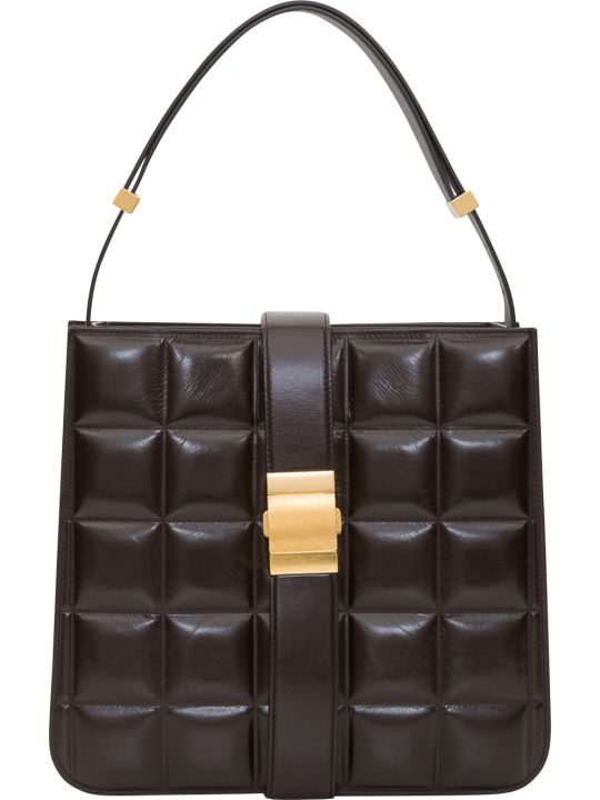 Bottega Veneta Padded Marie Bag In Paper Calfskin