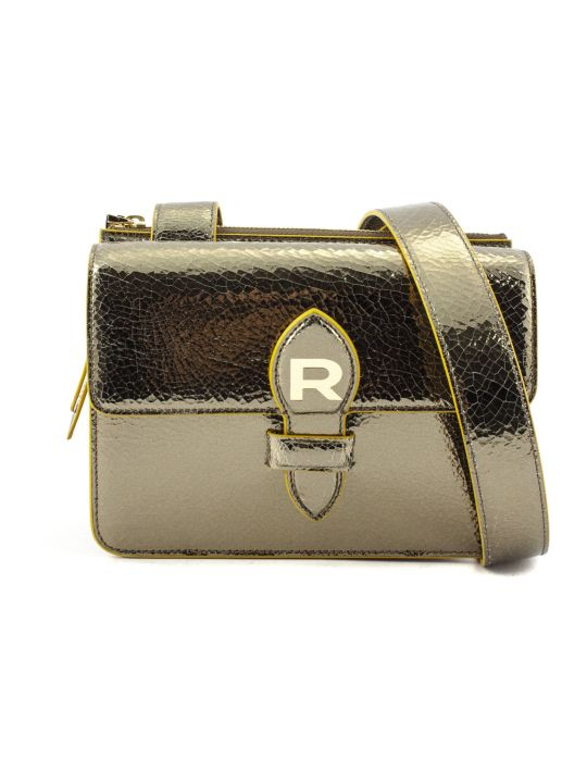 Rochas Gold-tone Mirror Leather Bag