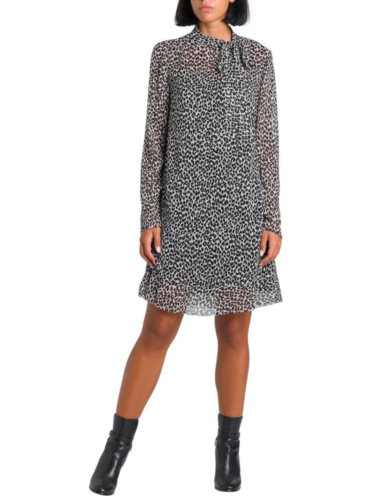 RED Valentino Animalier  Short Dress In Muslin