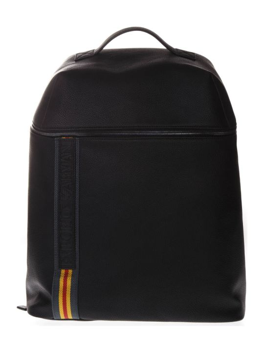 Emporio Armani Black Logo Nylon Backpack