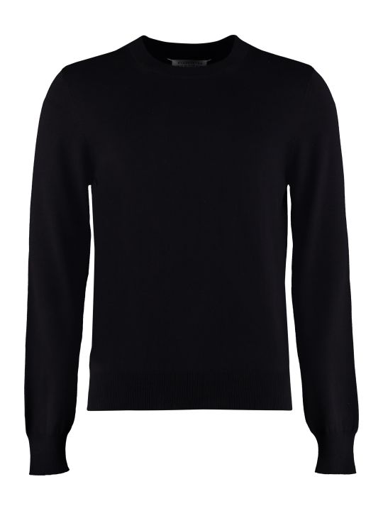 Maison Margiela Wool-cotton Blend Pullover With Elbow Patches