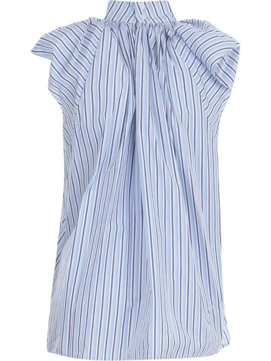 Victoria Beckham Ruched Shoulder Sleevless Top