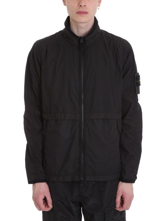 Stone Island Black Technical Fabric Jacket