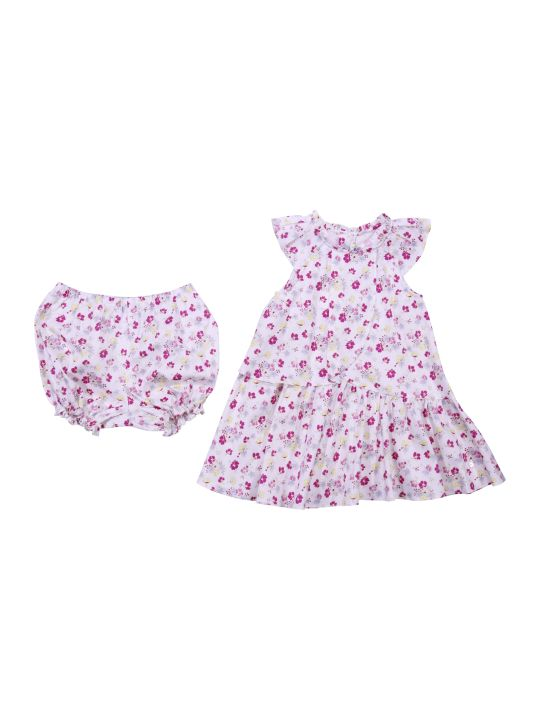 Baby Dior Printed Cotton Dress & Diaper Cover