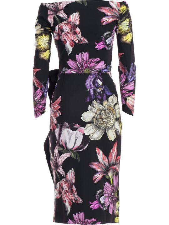 La Petit Robe Di Chiara Boni Dress L/s V Neck Fantasy W/side Drape