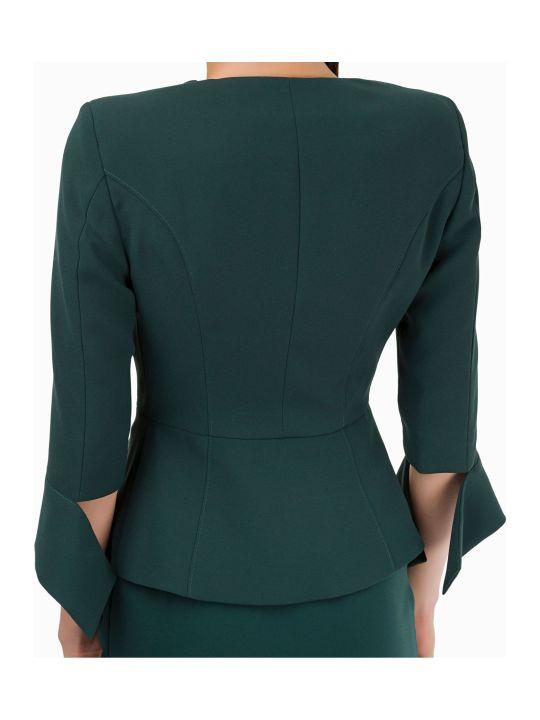 Elisabetta Franchi Celyn B. Green Bottle Jacket Suits And Blazer