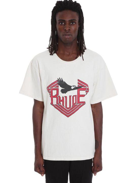 Rhude T-shirt In Beige Cotton