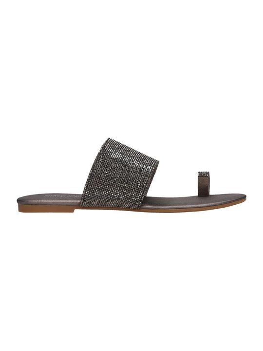 Jeffrey Campbell Jema Flats In Grey Leather