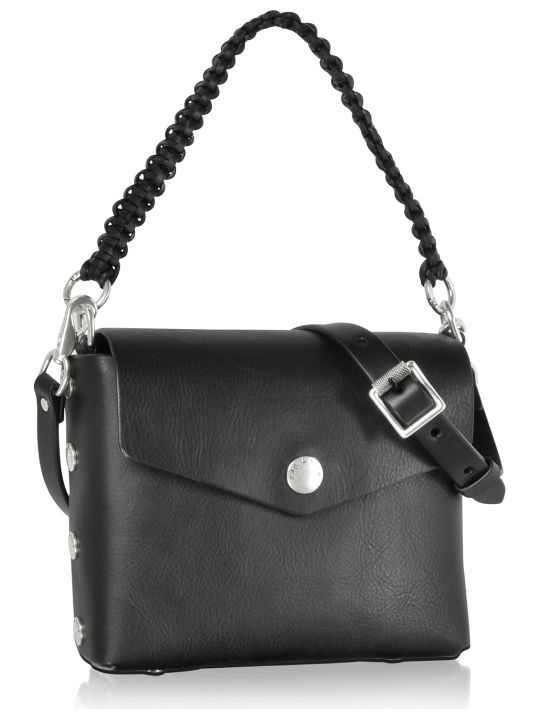 Rag & Bone Atlas Black Leather Shoulder Bag