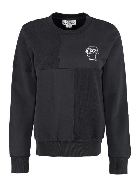 A.P.C. Cotton Sweatshirt A.p.c. X Brain Dead