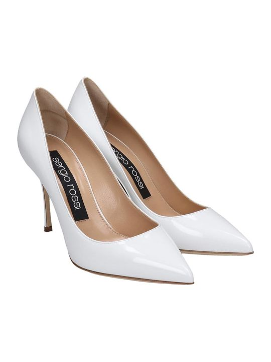 Sergio Rossi Pumps In White Patent Leather