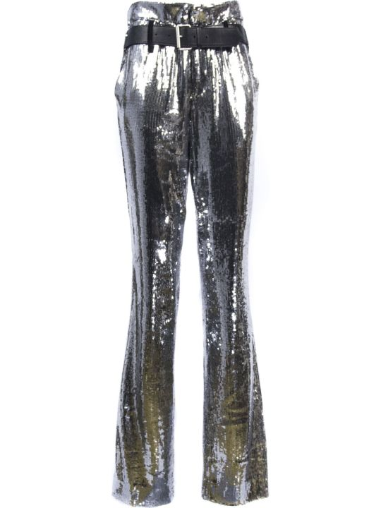 RTA Silver-toned Dillon Sequin Trousers