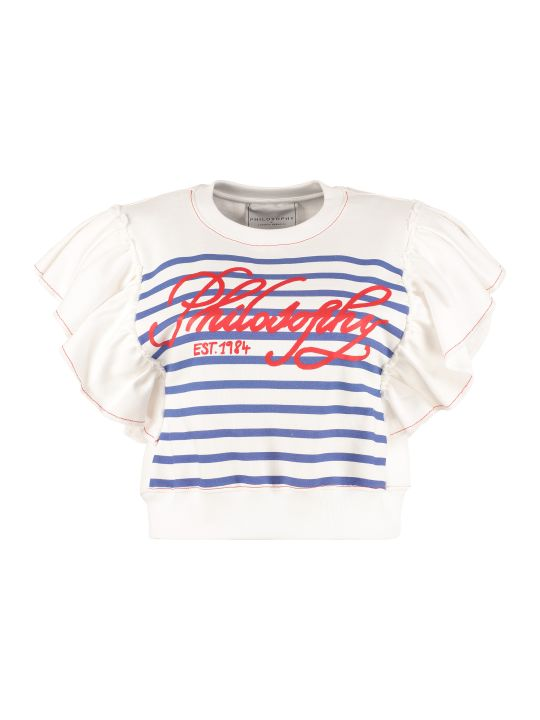 Philosophy di Lorenzo Serafini Striped Cotton Top