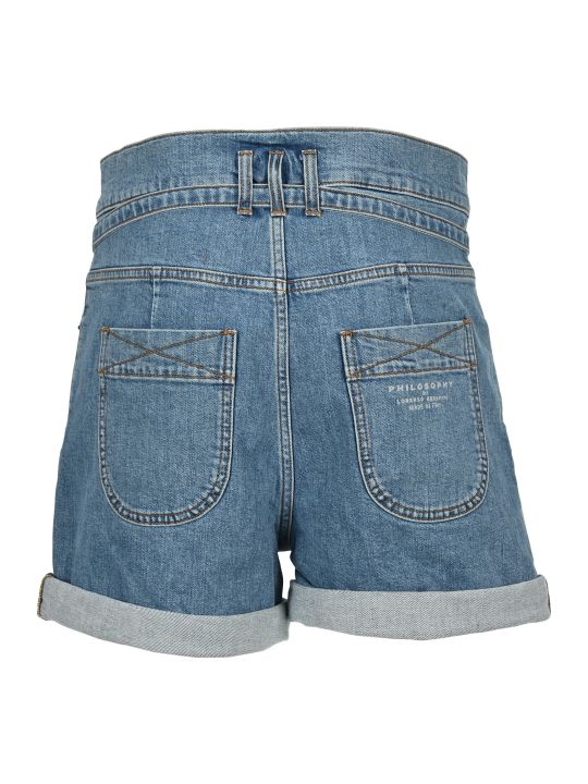 Philosophy di Lorenzo Serafini Philosophy Denim Shorts