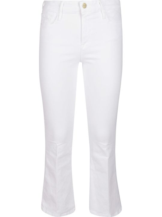 Frame White Stretch Cotton Jeans