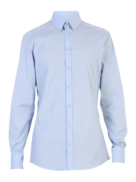 Dolce & Gabbana Light Blue Stretch Shirt
