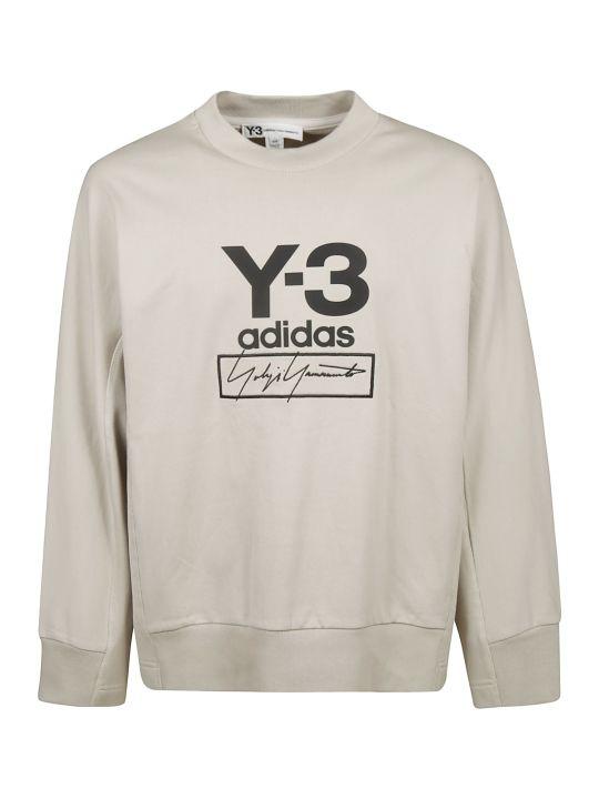 Y-3 Signature Logo Print Sweatshirt