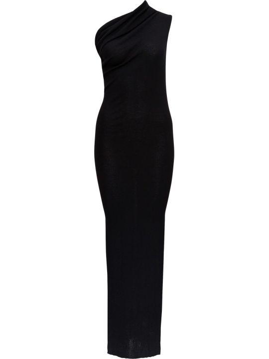 Rick Owens One-shoulder Dress In Ribbed Knit