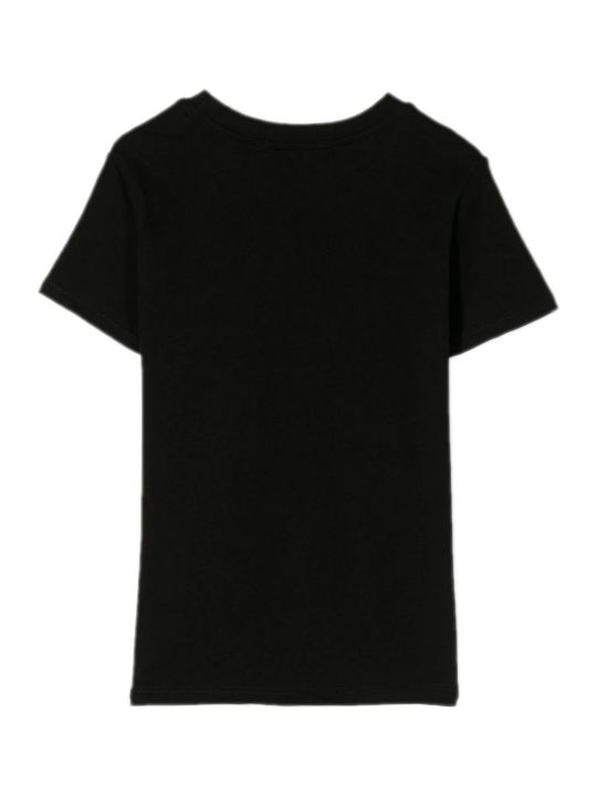 MSGM Black Cotton T-shirt