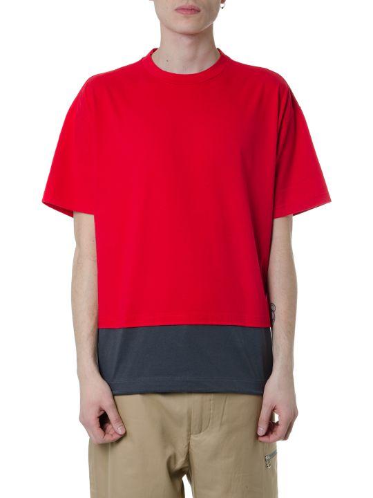 Marni Red & Grey Layered Cotton T-shirt