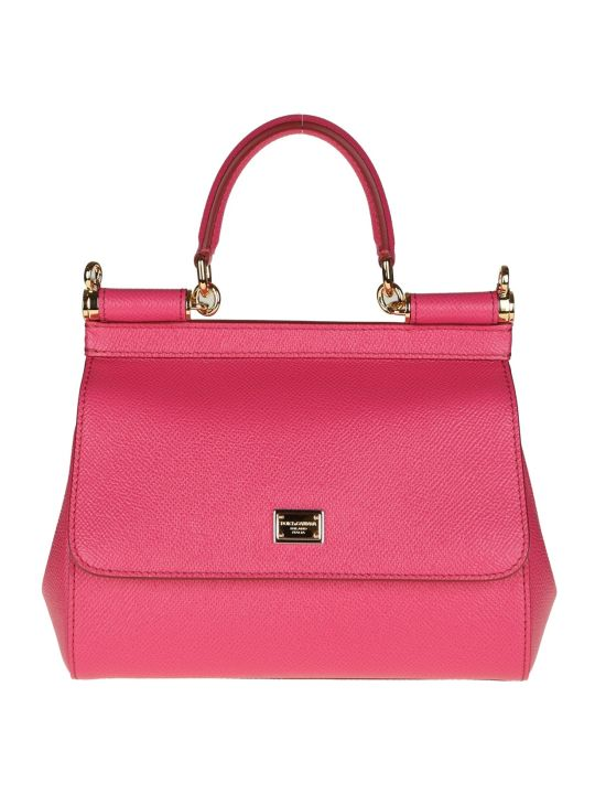 Dolce & Gabbana Sicily Leather Handbag Color Cyclaman