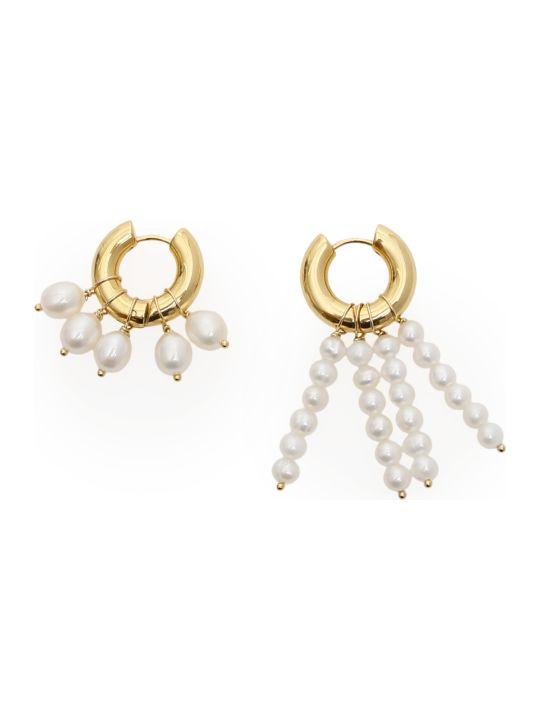 Timeless Pearly Asymmetric Earrings