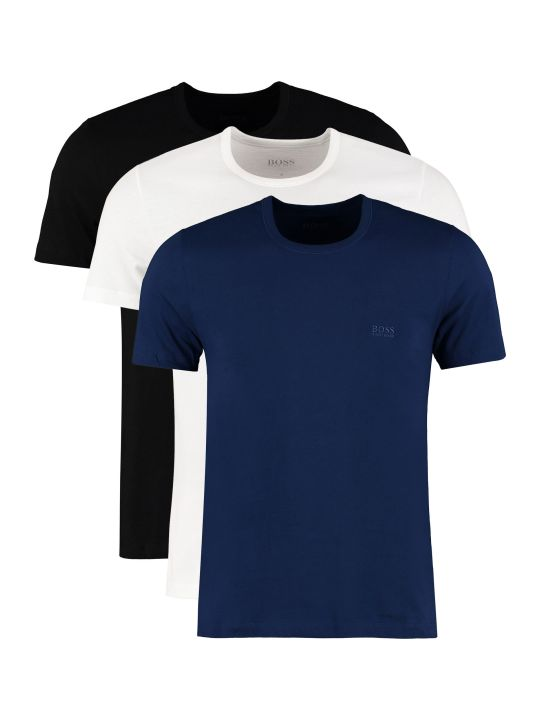 BOSS Black Three Pack Cotton T-shirt