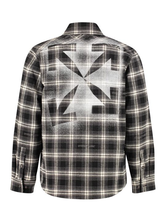 Off-White Checked Flannel Shirt