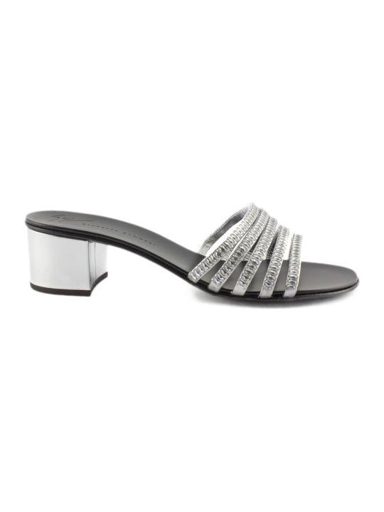 Giuseppe Zanotti Laminated Leather Flat Sandal