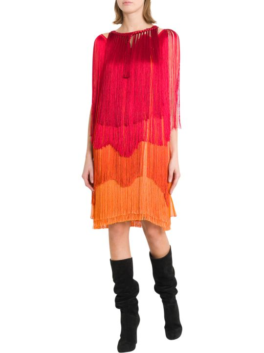 Alberta Ferretti Gradient Fring Short Dress