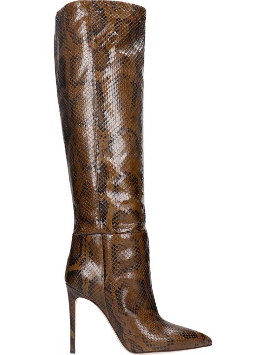 Paris Texas High Heels Boots In Brown Leather