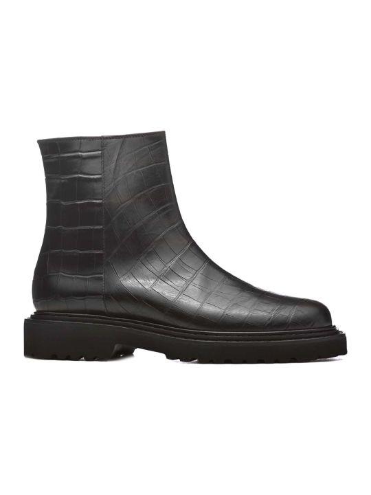 Vic Matié Vic Matié Croc Print Ankle Boots