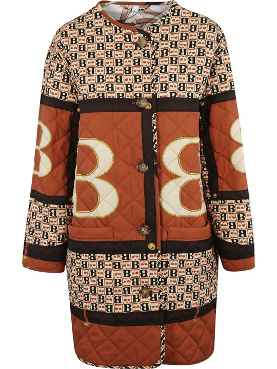 Burberry B Motif Quilted Buttoned Coat